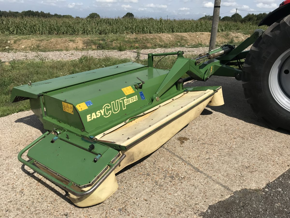 krone 280 cv-q mower conditioner